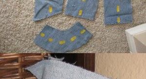 Transformando o Jeans Velho em Estrada de Brincar