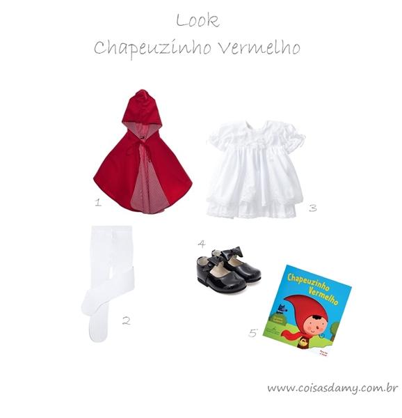 Look Chapeuzinho Vermelho